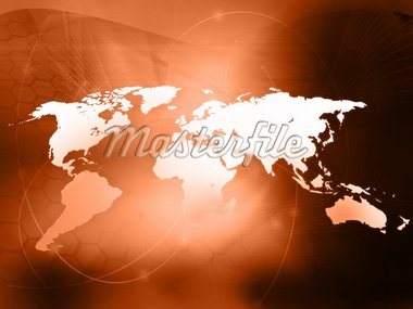 world map technology style Stock Photo - Royalty-Free, Artist: ilolab                        , Code: 400-04601139