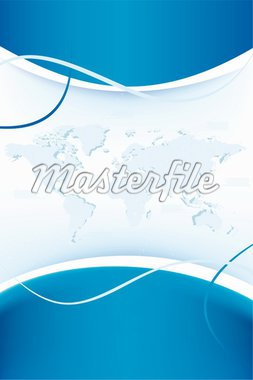 abstract background with world map in blue color Stock Photo - Royalty-Free, Artist: WaD                           , Code: 400-04602525