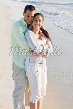 Couple on Beach Stock Photo - Premium Royalty-Free, Artist: Kevin Dodge, Code: 600-04625315