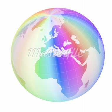 colorful globe frame isolated on white background Stock Photo - Royalty-Free, Artist: sgame                         , Code: 400-04664987