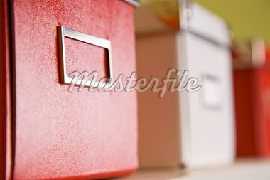 corporate archive boxes on shelf Stock Photo - Royalty-Free, Artist: epstock                       , Code: 400-04703056