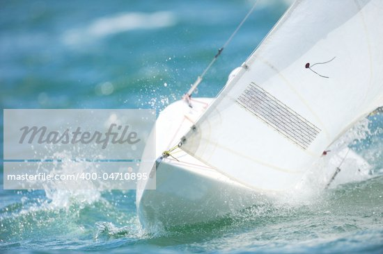 A Sailboat on the blue ocean water. Stock Photo - Royalty-Free, Artist: sportlibrary                  , Code: 400-04710895