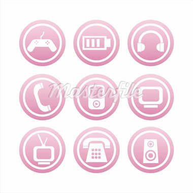 set of 9  technology signs Stock Photo - Royalty-Free, Artist: LxIsabelle                    , Code: 400-04724624