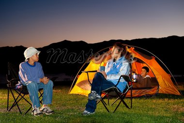 FamilyCamping at Colorado Rocky Mountains Stock Photo - Royalty-Free, Artist: Studio1One                    , Code: 400-04728973