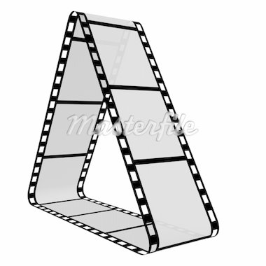 3d Film Strip. White background. Digitally Generated. Stock Photo - Royalty-Free, Artist: gibsonff                      , Code: 400-04731875