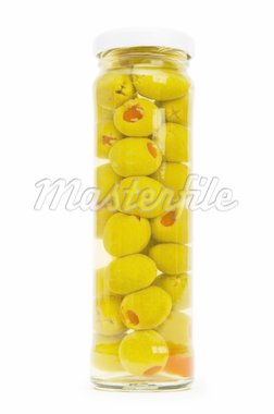Pickled olives in glass jar   Stock Photo - Royalty-Free, Artist: ElnurCrestock                 , Code: 400-04748091