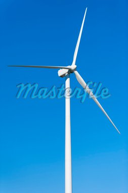 Wind Turbine on Clear Blue Sky Stock Photo - Royalty-Free, Artist: maryo990                      , Code: 400-04756697