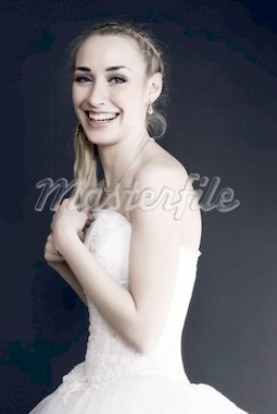 Young beautiful bride is full of happiness Stock Photo - Royalty-Free, Artist: HASLOO                        , Code: 400-04759640