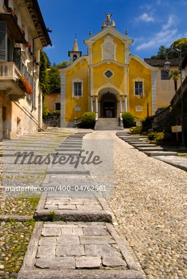 The Santa Maria Assunta Church in Orta, Italian Lake District. Stock Photo - Royalty-Free, Artist: urmoments                     , Code: 400-04762561