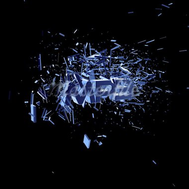 exploding letters mp3 on black background - 3d illustration Stock Photo - Royalty-Free, Artist: drizzd                        , Code: 400-04763123