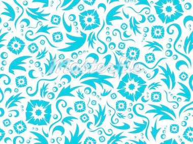 Vector seamless flower pattern of dark blue colour on a white background Stock Photo - Royalty-Free, Artist: pzRomashka                    , Code: 400-04765926