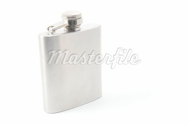 hip flask for alcohol isolated on white background Stock Photo - Royalty-Free, Artist: gunnar3000                    , Code: 400-04804966