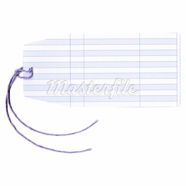 Price tag or address label with string Stock Photo - Royalty-Free, Artist: claudiodivizia                , Code: 400-04807343