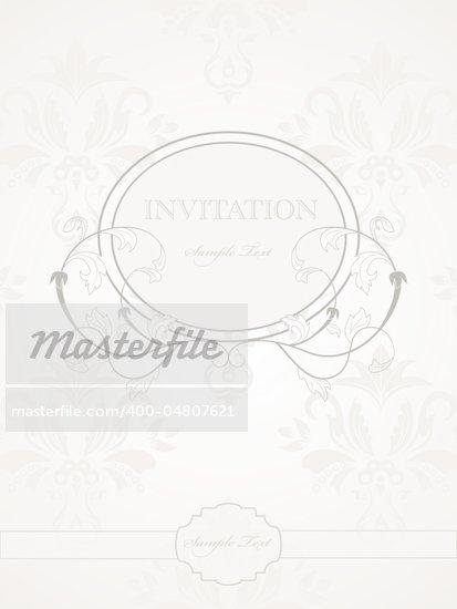 Vector vintage pattern for wedding invitation
