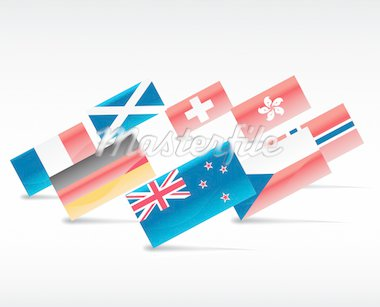 flags Stock Photo - Royalty-Free, Artist: zabiamedve                    , Code: 400-04810476