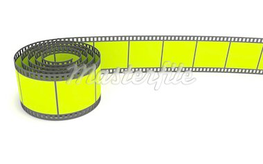 3D rendering of a 35mm green film strip Stock Photo - Royalty-Free, Artist: cnapsys                       , Code: 400-04817605