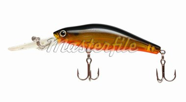 wobbler for fishing with spinning on white Stock Photo - Royalty-Free, Artist: Mik122                        , Code: 400-04845697