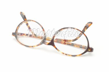 Old fashion plastic frame eyeglasses on white background Stock Photo - Royalty-Free, Artist: Design56                      , Code: 400-04855651