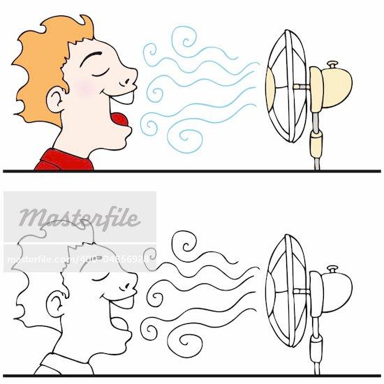 Cooling Fan Clip Art : Blowing fan clipart