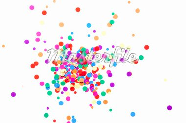colored round confetti spilled on white Stock Photo - Royalty-Free, Artist: raysay                        , Code: 400-04861760