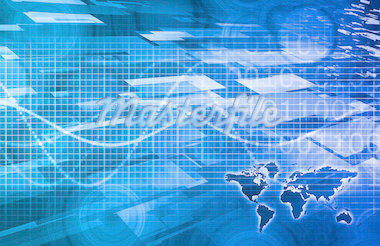 Media Communication on the Internet with Data Art Stock Photo - Royalty-Free, Artist: kentoh                        , Code: 400-04892226