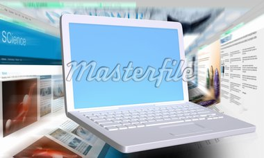 fast browsers behind a white laptop with empty screen Stock Photo - Royalty-Free, Artist: TLFurrer                      , Code: 400-04900454