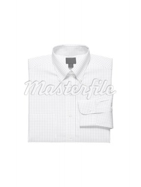 A new white man's shirt isolated over a white background Stock Photo - Royalty-Free, Artist: shutswis                      , Code: 400-04902045