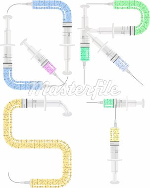 syringe alphabet Stock Photo - Royalty-Free, Artist: williammpark                  , Code: 400-04905614