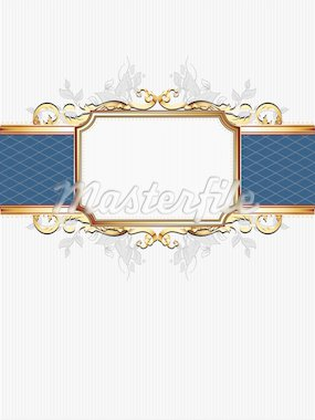 ornate frame,  this illustration may be useful as designer work Stock Photo - Royalty-Free, Artist: kjolak                        , Code: 400-04906238