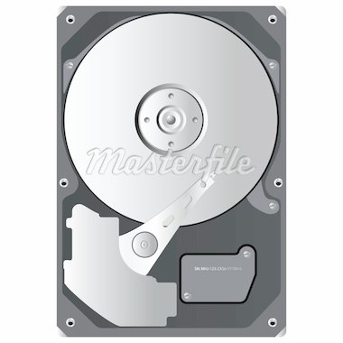 hard disk drive, hdd - isolated on white background Stock Photo - Royalty-Free, Artist: djdarkflower                  , Code: 400-04908754