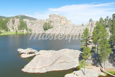 Huge rocks in beautiful Sylvan Lake of Custer State Park in South Dakota. Stock Photo - Royalty-Free, Artist: Wirepec                       , Code: 400-04909668
