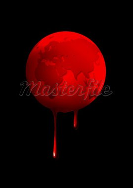 Illustration of bleeding Earth Stock Photo - Royalty-Free, Artist: rudall30                      , Code: 400-04912283