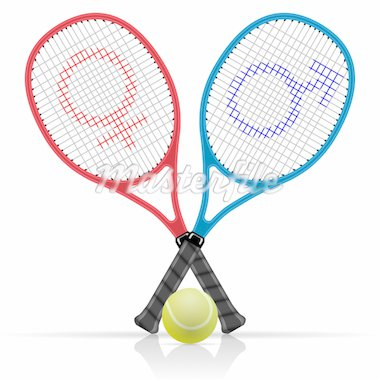 Illustration rackets with tennis balls on a white background. Stock Photo - Royalty-Free, Artist: Duda78                        , Code: 400-04913828