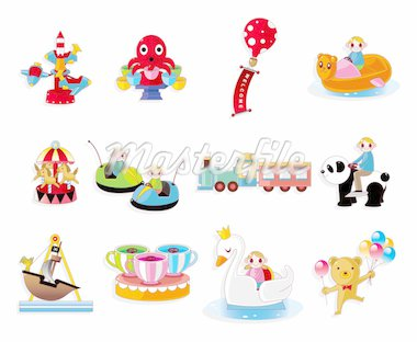 Cartoon Playground Equipment icons set Stock Photo - Royalty-Free, Artist: notkoo2008                    , Code: 400-04915526