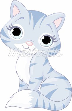 Illustration of very cute kitten Stock Photo - Royalty-Free, Artist: Dazdraperma                   , Code: 400-04916850