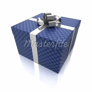 Gift box with patterns isolated on white background Stock Photo - Royalty-Free, Artist: Enki                          , Code: 400-04916872