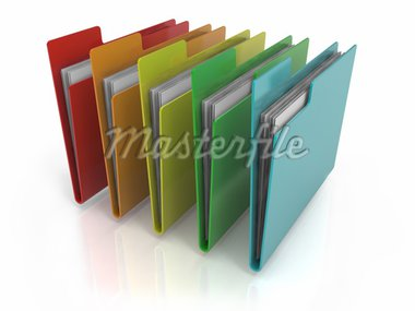 Folders Icon with variations of colors Stock Photo - Royalty-Free, Artist: Enki                          , Code: 400-04918622