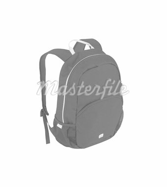 Backpack full with study books Stock Photo - Royalty-Free, Artist: shutswis                      , Code: 400-04921963
