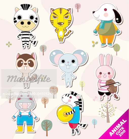 cartoon animal icons Stock Photo - Royalty-Free, Artist: notkoo2008                    , Code: 400-04925244