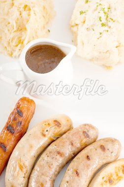 selection of all main type of german wurstel sausages Stock Photo - Royalty-Free, Artist: keko64                        , Code: 400-04925341