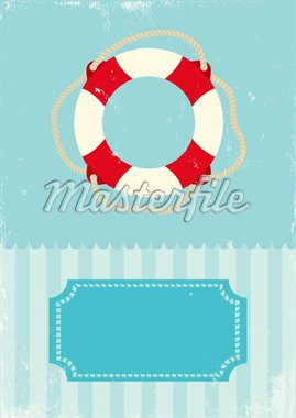 Retro illustration of marine life buoy Stock Photo - Royalty-Free, Artist: serazetdinov                  , Code: 400-04925630