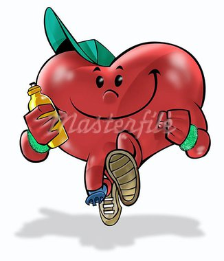 A heart running and making exercises Stock Photo - Royalty-Free, Artist: davisales                     , Code: 400-04974536
