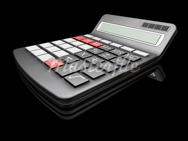 3D render of a calculator Stock Photo - Royalty-Free, Artist: kirstypargeter                , Code: 400-04976169