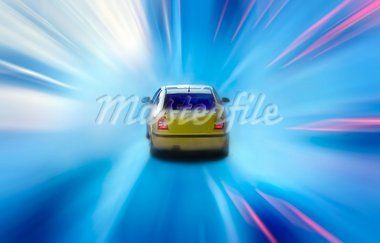 car at night with motion blur Stock Photo - Royalty-Free, Artist: mikdam                        , Code: 400-04978103