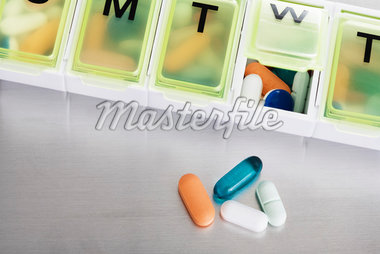 Pill Container and Pills Stock Photo - Premium Royalty-Free, Artist: Amy Whitt, Code: 600-04981819
