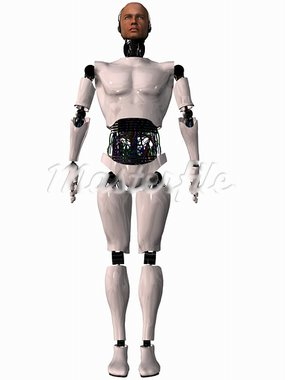 3 D Render of an Male Robot Stock Photo - Royalty-Free, Artist: Digitalstudio                 , Code: 400-05006854