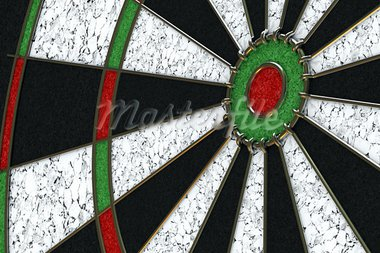 Angled view onto bullseye of a dartboard Stock Photo - Royalty-Free, Artist: badboo                        , Code: 400-05075104