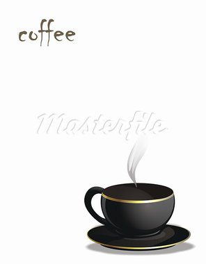 black cup of coffee on background Stock Photo - Royalty-Free, Artist: reich                         , Code: 400-05092314