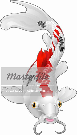 A beautiful koi carp artwork. Symbol of love, friendship and prosperity  Stock Photo - Royalty-Free, Artist: Krisdog                       , Code: 400-05108267