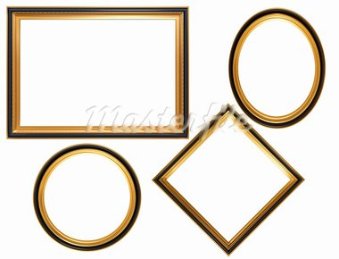 Isolated illustration of a collection of Georgian picture frames Stock Photo - Royalty-Free, Artist: paulfleet                     , Code: 400-05127263